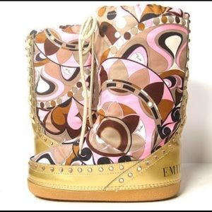 Authentic Emilio Pucci Moon Snow Boots